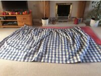 Dunelm Mill Curtains blue check pattern with blackout lining suitable for bedroom £15