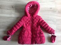 Baby Girls Padded Winter Coat 9-12m
