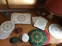 Elegant and Regal placemats and coasters for 6-8places
