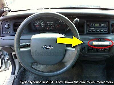 Crown Equipment (P71 Crown Vic Police Interceptor Equipment Warning Decal Sticker Ford CVPI )