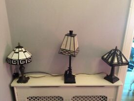 Three Tiffany Lamps
