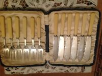 Vintage fish knives and forks