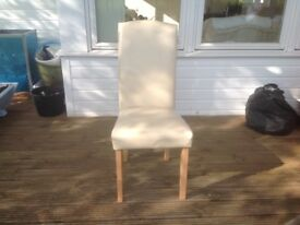 Dining room chairs - cream