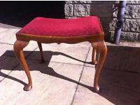 1930s dressing table stool/ piano stool