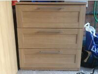 Mamas and Papas Rialto oak effect chest of drawers