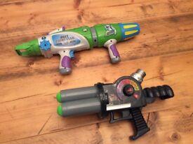 Buzz Lightyear and Zurg blaster guns
