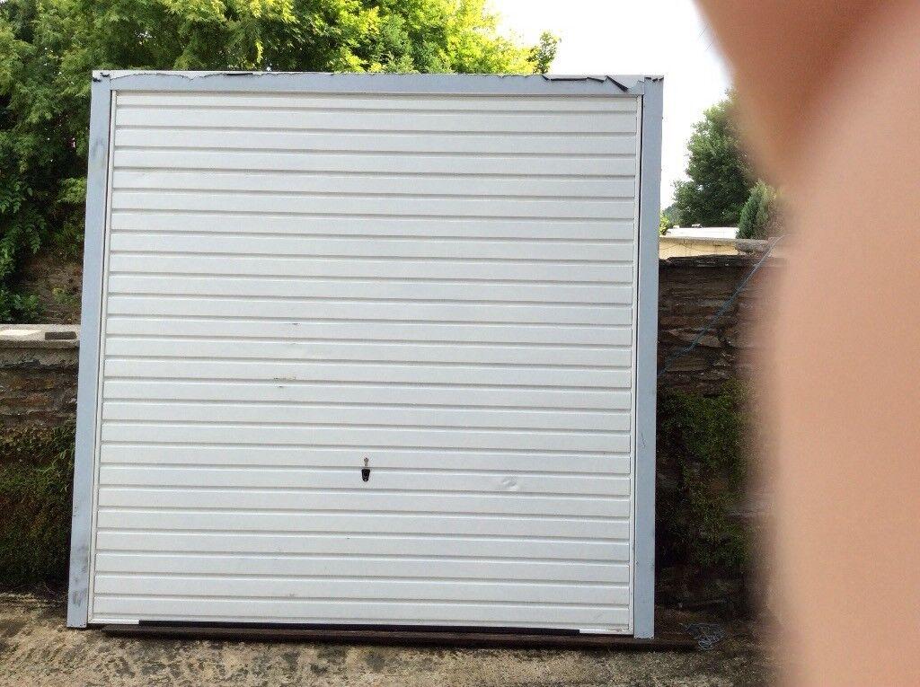 White Unused Single Garage Door with Frame | in Liskeard, Cornwall ...