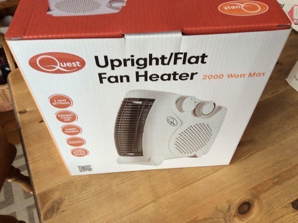 2x 2000 Watt Upright/Flat Fan Heaters - Brand new in box!