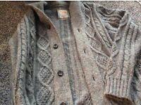 Burtons grey cardigan and grey jumper