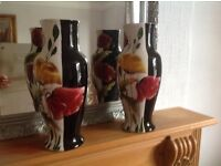 TWO MATCHING LARGE VASES
