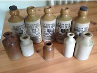 70 assorted Victorian coloured glass bottles