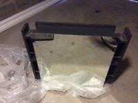 Wickes Alessano Grey Gloss Wall Hung Mirror Storage Unit - 600 mm
