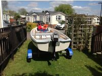 12ft TERHI Dinghy complete with recently serviced 3.3hp Mariner outboard