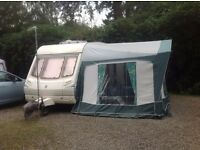 2001 ABBEY IONA VOGUE 2 BERTH CARAVAN VGC Motor mover, Stabilizer, large Awning with annex,