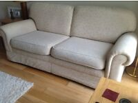 Cream M&S lounge suite excellent condition three seater sofa and two chairs very comfortable