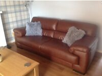 Two large 3 Seater Leather Sofa's