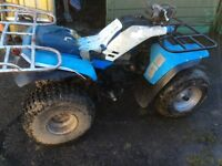 2 quad bikes rough but in running order