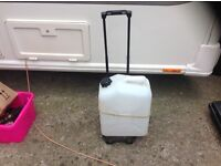 Camping water container and folding trolley