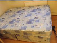 CHEAP Double divan bed base MATTRESS INCLUDED, collection only must sell today