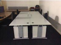 Four Grey Rectangle Desks