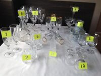 Variety of glasses for sale!!