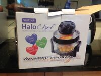 Visicook Halochef multicooker for fat free cooking.