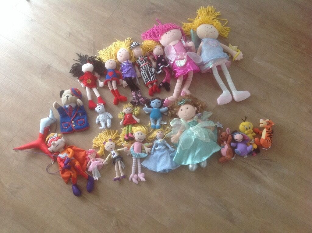 Dolls - Soft Dolls, Fairies, Puppets & Disney Soft Toys (21Items)