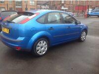 Ford focus ZETEC LX 1.6 2005 only 70000 miles FSH MOT ONE YEAR METALLIC BLUE 5 door free warranty