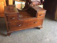 Vintage oak dressing table