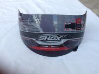Shox motorbike helmet visor