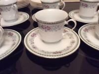 Six cups and saucers