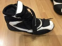 Richa black and white motorcycle boots