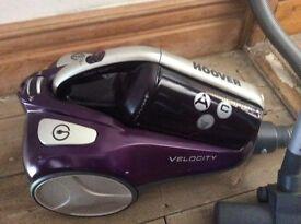 Hoover RU80_VE11001 Velocity Bagless Cylinder Vacuum Cleaner, 2.5 L, 850W Purple