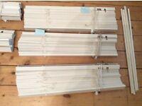 White wood Venetian blinds IKEA various sizes
