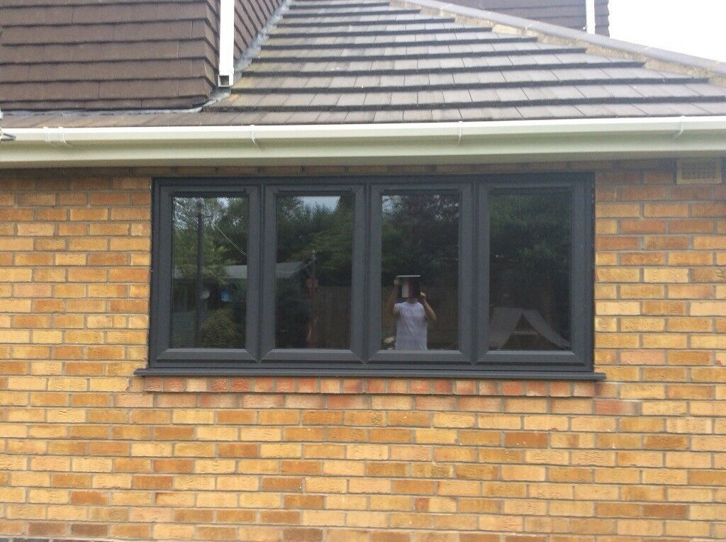10febe0b4 3 images UPVC Grey wood grain effect window York, North Yorkshire ...