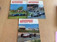 Three 1967 Autosport Magazines.