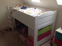 Juicy fruits mid sleeper solid wood kids bunk bed