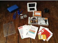 NINTENDO 3ds xl with pre installed Mario cart, plus 3 games, charger, case and more