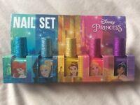 Brand new set of 5 Disney princess nail varnishes
