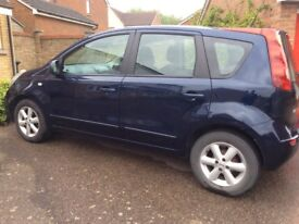 Nissan Note 1.6 auto , 53000 miles , £2250, year 2007 Air Conditioning