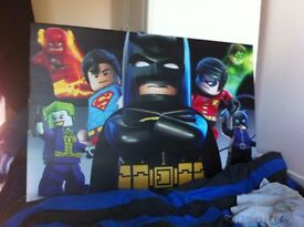 canvas Lego super hero painting and dictionary for sale