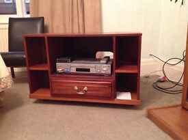 Solid wooden television/DVD unit