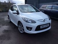 2009 Mazda 2 Sport 1.4 103bhp Pearlescent White Excellent Car Only £3250