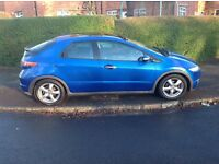 2006 HONDA CIVIC 1800ES. VIVID BLUE.PANORAMIC GLASS ROOF