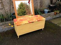 Vintage Rattan Blanket Box