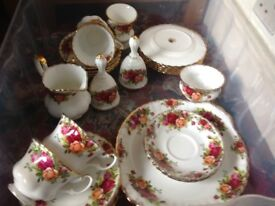 Country Rose Royal Albert china
