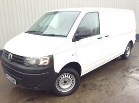 NO VAT! 63 REG VOLKSWAGEN T5 TRANSPORTER T30 BLUEMOTION 1 OWNER 108K FSH MOT SEPT 2017 HPI CLEAR VGC