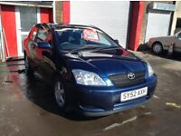 2002 Toyota Corolla T3 1.4 mot until end Sep.Superb driving super reliable