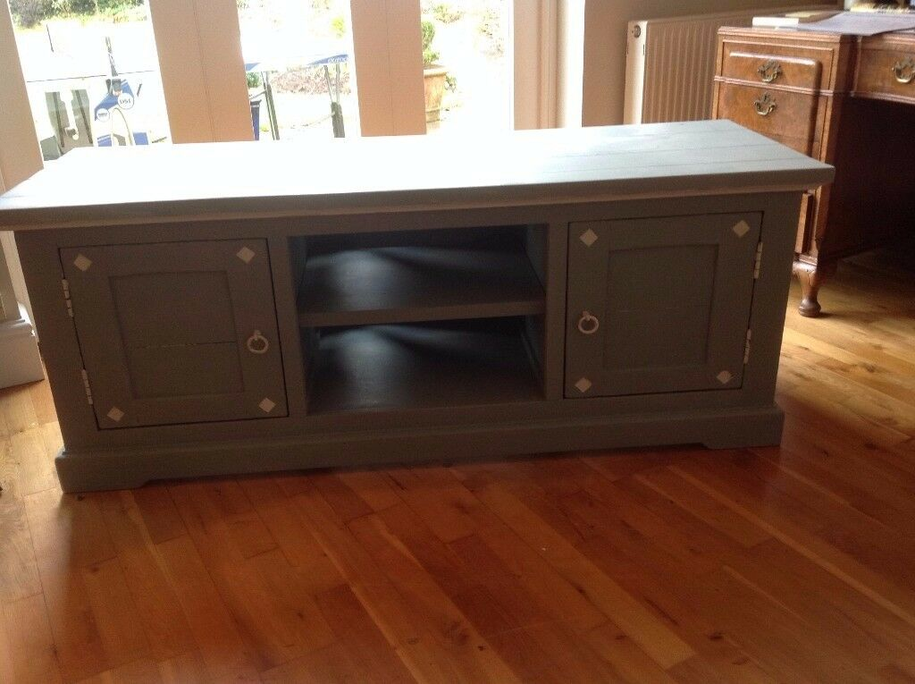 Hardwood TV cabinet - hand-painted in Annie Sloan paint