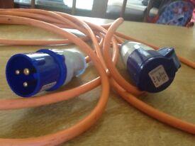Caravan hook up electric cable
